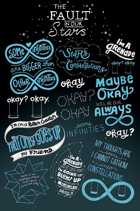 The Fault In Our Stars - Typographic Poster