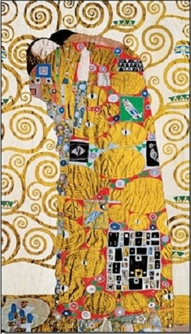 The Fulfillment (The Embrace) - Stoclit Frieze, 1909 Art Print