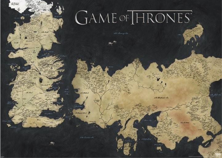 Pôster The Game Of Thrones - A Guerra dos Tronos mapa
