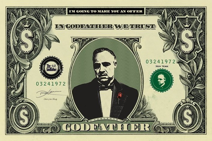 THE GODFATHER - dollar Poster, Art Print