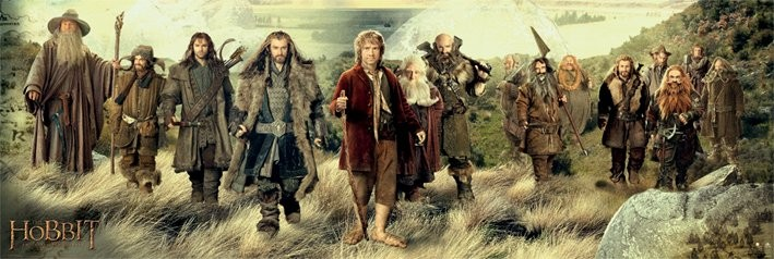 The Hobbit - cast Poster, Art Print