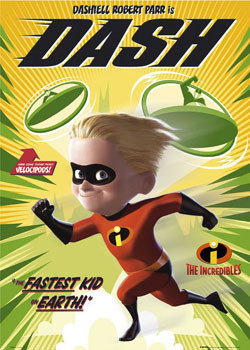 THE INCREDIBLES - dashiell Poster