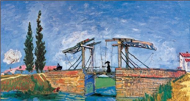 The Langlois Bridge at Arles, 1888 (part.) Art Print