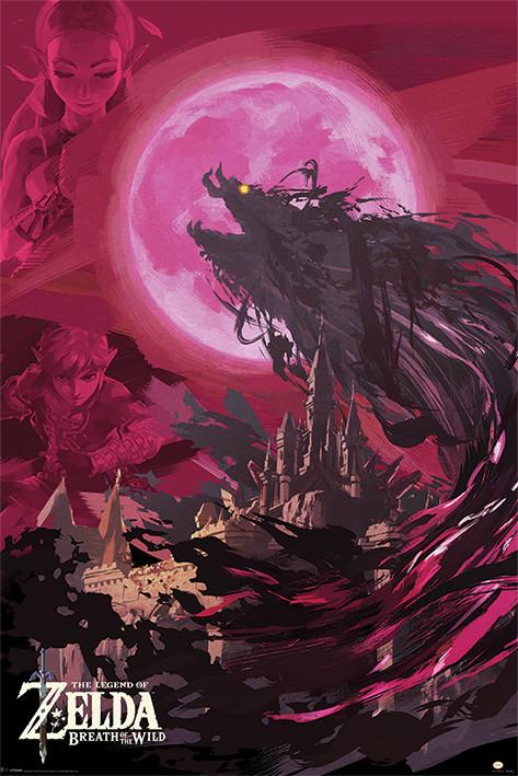 The Legend Of Zelda: Breath Of The Wild - Ganon Blood Moon Poster