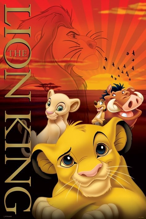 the lion king poster sold at europosters