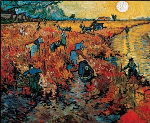 The Red Vineyards near Arles, 1888 Art Print