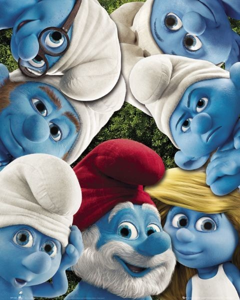 THE SMURFS - group Poster