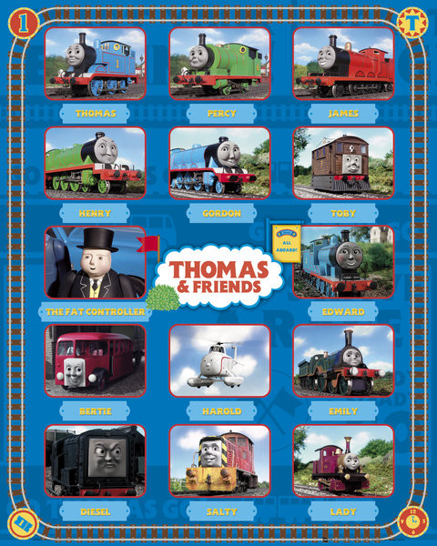 thomas and friends characters poster sold at ukposters