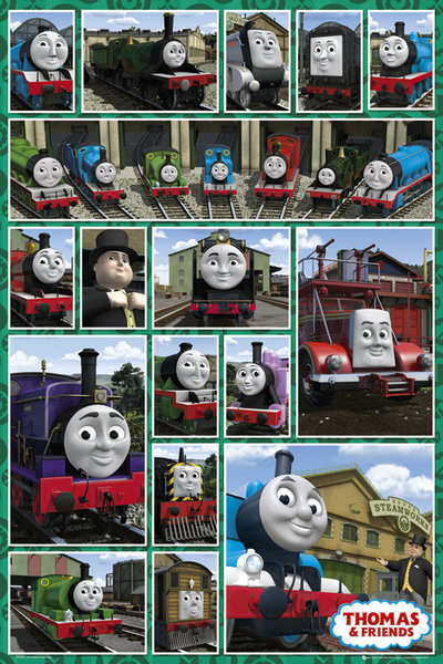 THOMAS AND FRIENDS – compilation Poster, Art Print