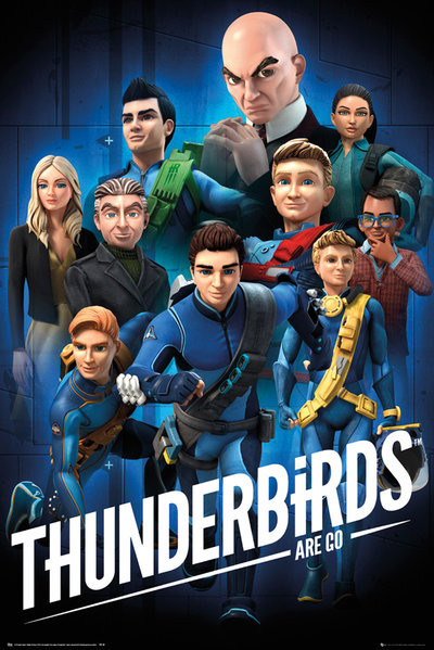 Thunderbirds - Are Go - Collage Poster