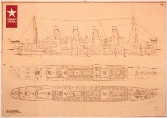Titanic - Plans Art Print