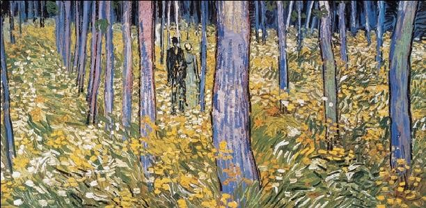 Undergrowth with Two Figures, 1890 Art Print