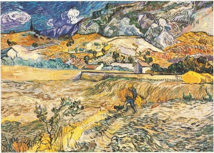 Van Gogh - Paesaggio a San Remy Art Print