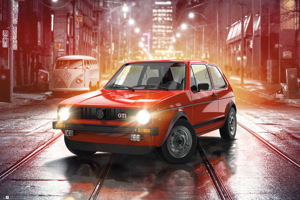 VW Golf I - GTI Poster