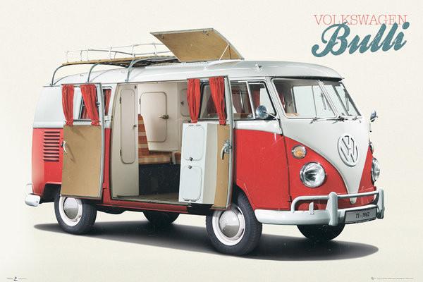vw volkswagen camper bulli poster sold at. Black Bedroom Furniture Sets. Home Design Ideas