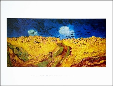Wheatfield with Crows, 1890 Art Print