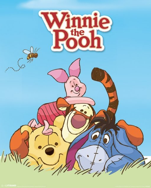 Poster  Winnie the Pooh - Characters