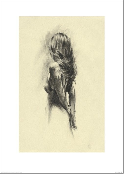 Woman - Back Art Print
