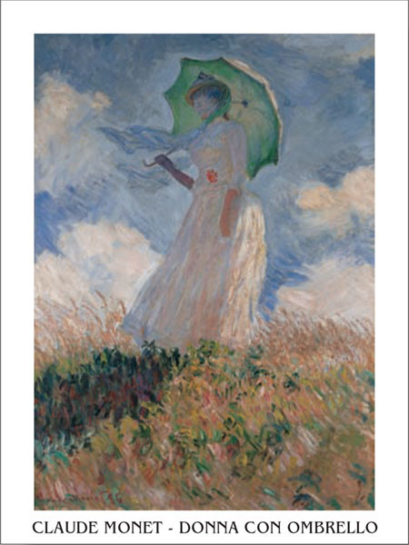 Woman with a Parasol Art Print