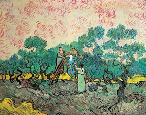 Women Picking Olives, 1889 Art Print