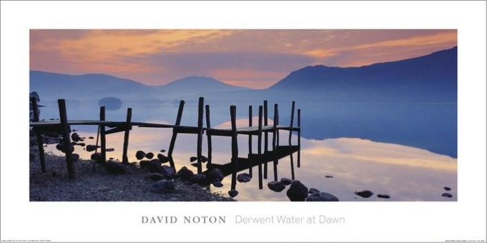 Wooden Landing Jetty - David Noton, Cumbria Art Print