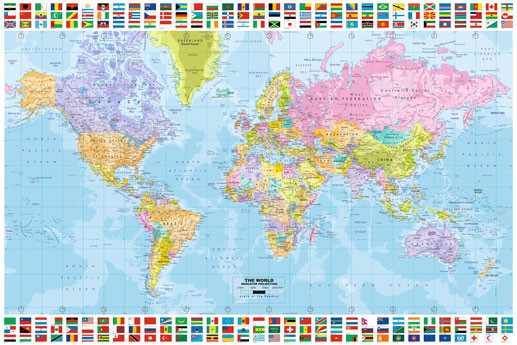 World Map - Political Poster | Sold at Europosters