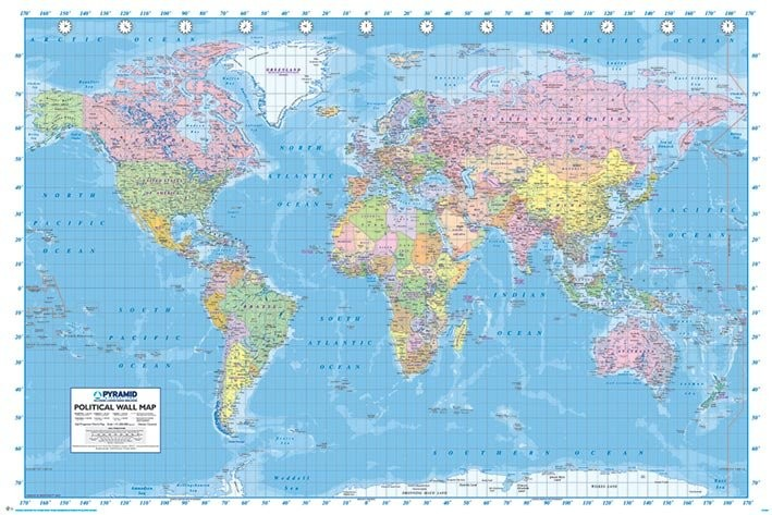 World map political poster sold at europosters world map political poster gumiabroncs Choice Image