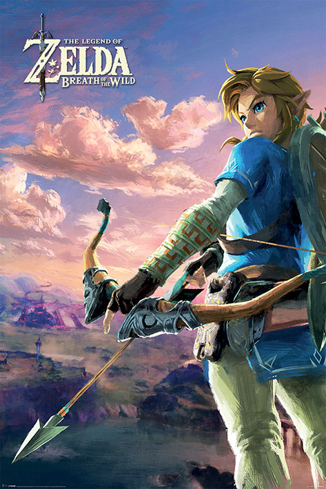 Zelda Breath of the Wild - Hyrule Scene Landscape Poster