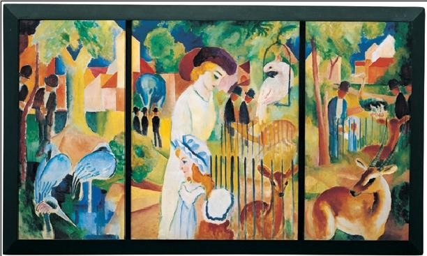 Zoological Garden, 1914 Art Print