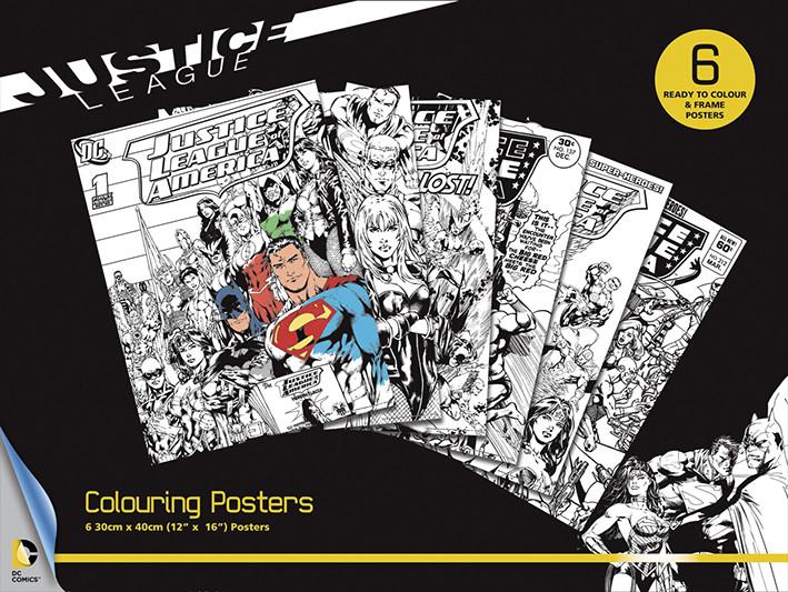 Posters para colorir DC Comics - Justice League