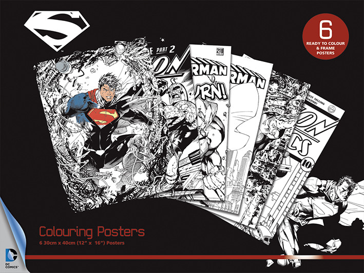 Posters para colorir  DC Comics - Superman