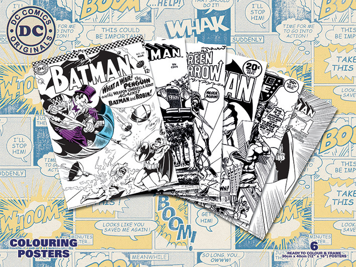 Posters para colorir  DC Originals - Retro