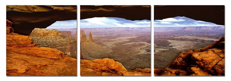 Canyon Lands Mounted Art Print