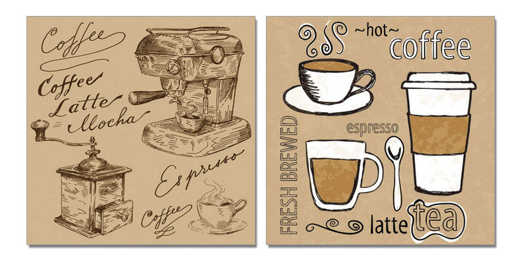 Coffee Mounted Art Print