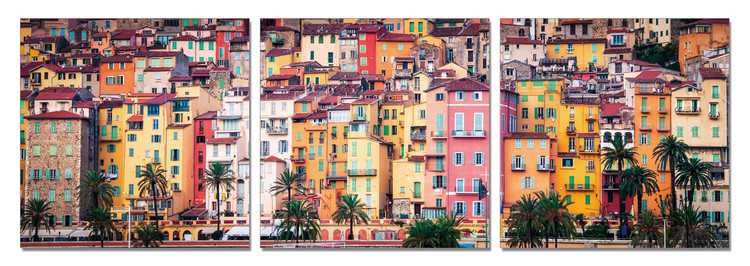 Colorful city Mounted Art Print