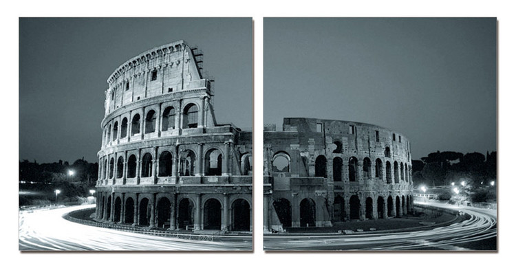 Colosseum - Amphitheatre at Twilight Mounted Art Print