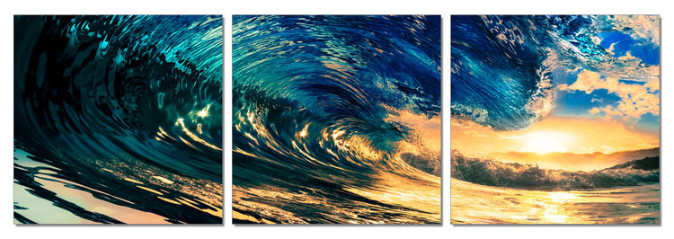 Falling Wave Mounted Art Print