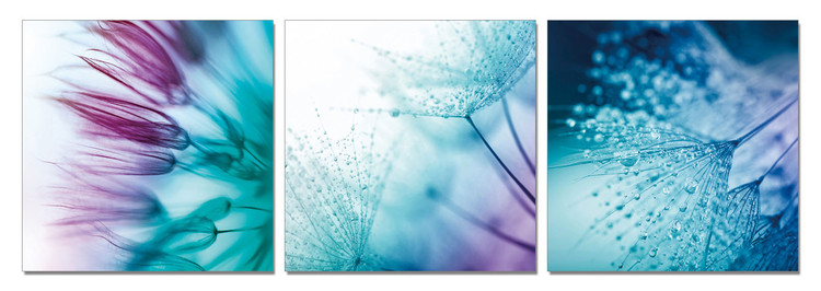 Flower - Game of Blue and Purple Mounted Art Print