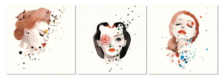 Flower woman Mounted Art Print