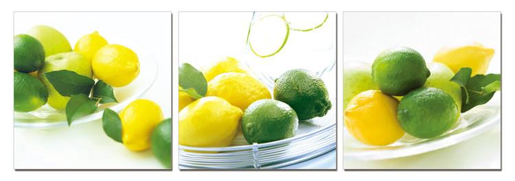 Lemons and limes Mounted Art Print