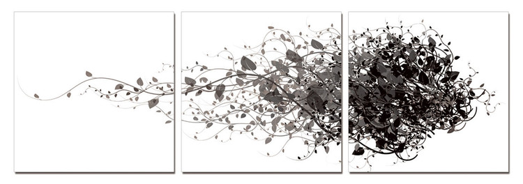 Modern Design - Branches Mounted Art Print