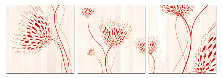 Modern design - flowers Mounted Art Print