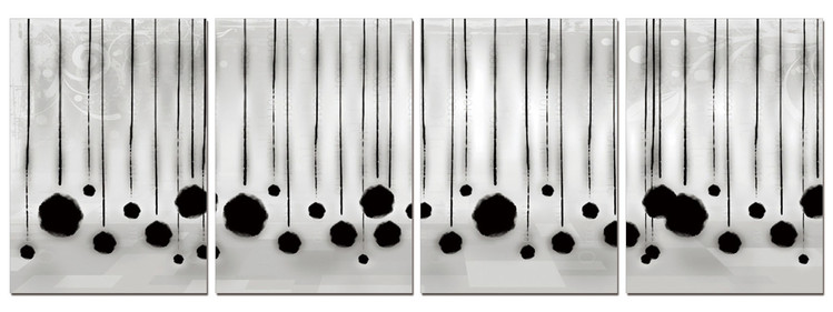 Modern Design - Hanging Balls Mounted Art Print