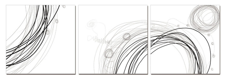 Modern Design - Lines Mounted Art Print