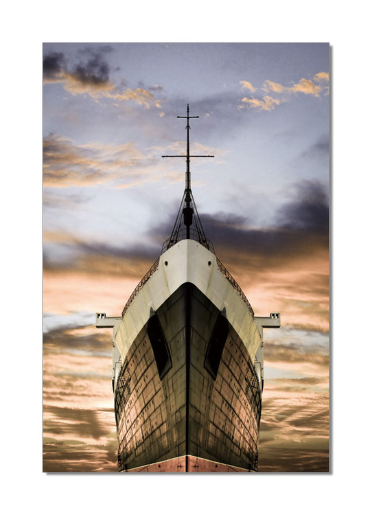 Prow of the Ship Mounted Art Print