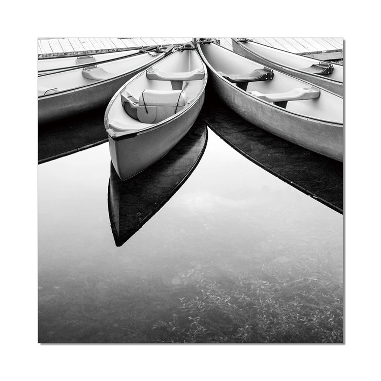 Rest after the Season (B&W) Mounted Art Print