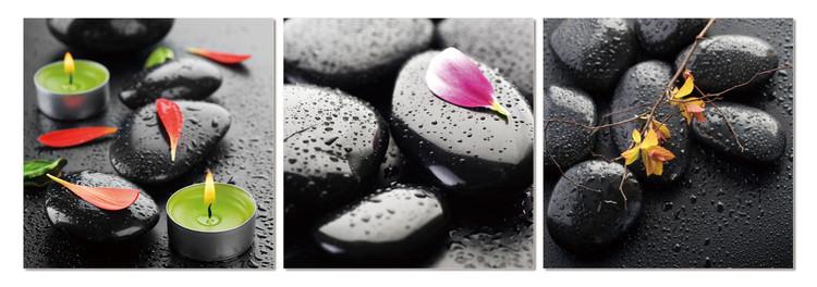Spa - stones Mounted Art Print