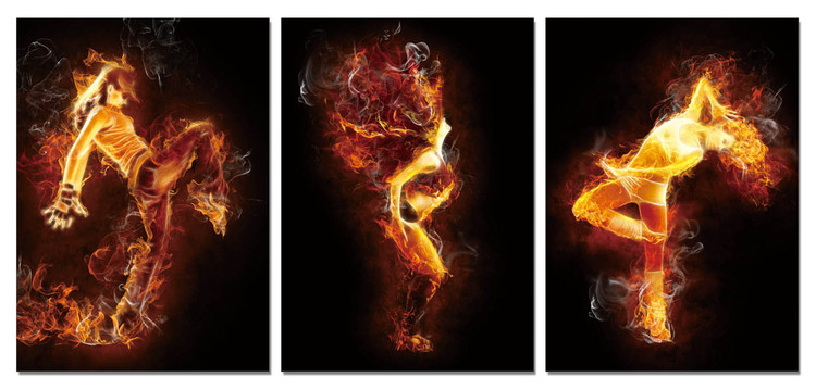 The fiery woman Mounted Art Print