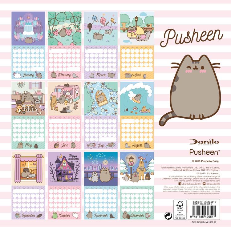 Pusheen Calendar 2022.Pusheen Wall Calendars 2022 Large Selection