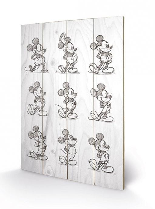 Mikki Hiiri (Mickey Mouse) - Sketched - Multi Puukyltti